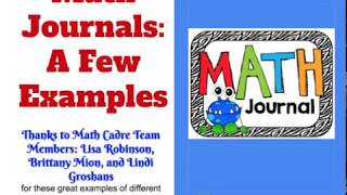 FORMATIVES IN 5:Math Journals