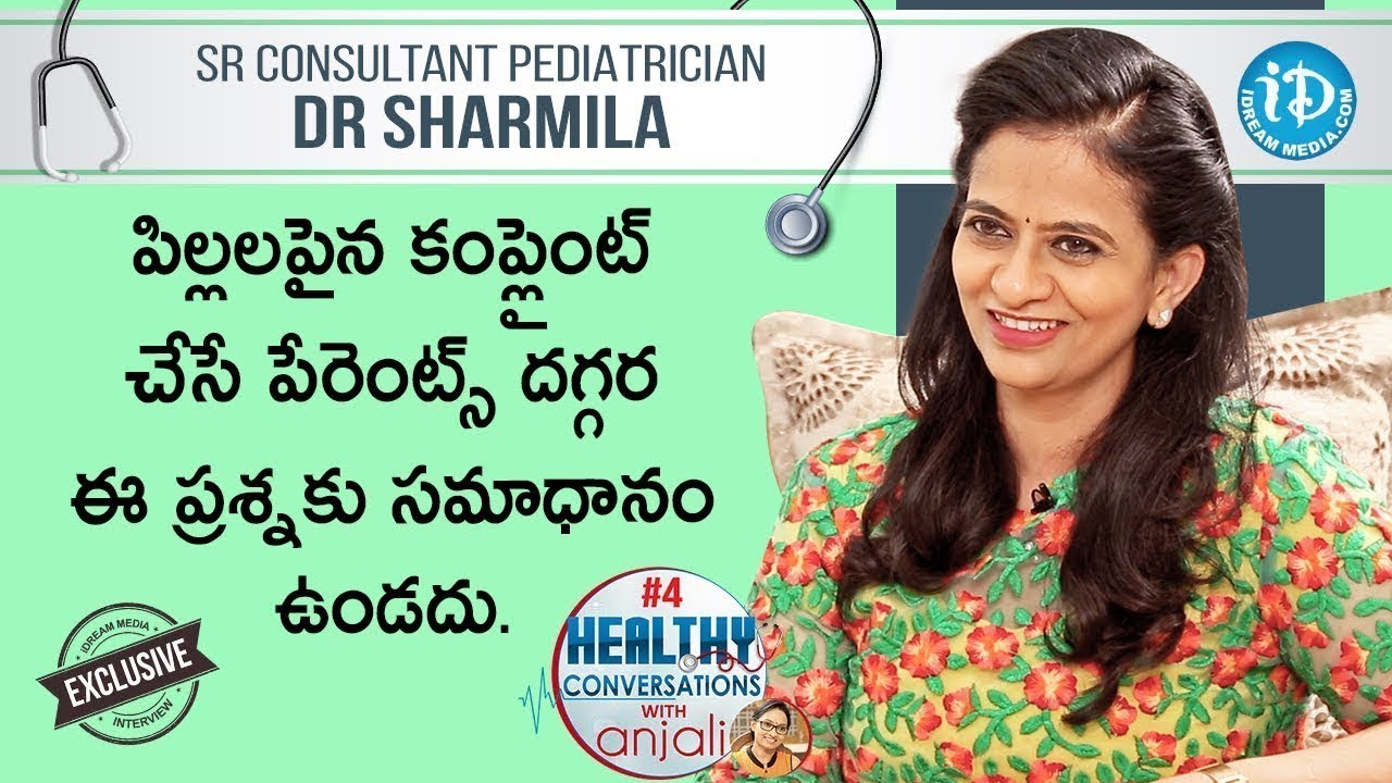 Sr Pediatrician Dr Sharmila Exclusive Interview, Healthy Conversations with Anjali 4