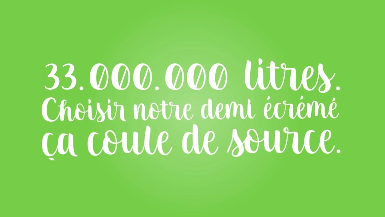 33 000 000 de litres de lait demi-écrémé Fairebel (FR)