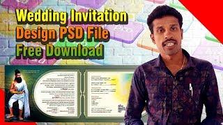 Wedding Invitation Design PSD File Free Download   Valavan Tutorials