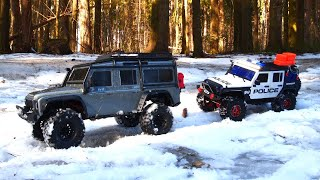 RADIO CONTROL CARS Off Road Police Car and Land Rover Defender