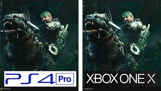 Call of Duty Black OPS 4 | PS4 Pro vs ONE X | 4k Graphics & Framerate Comparison