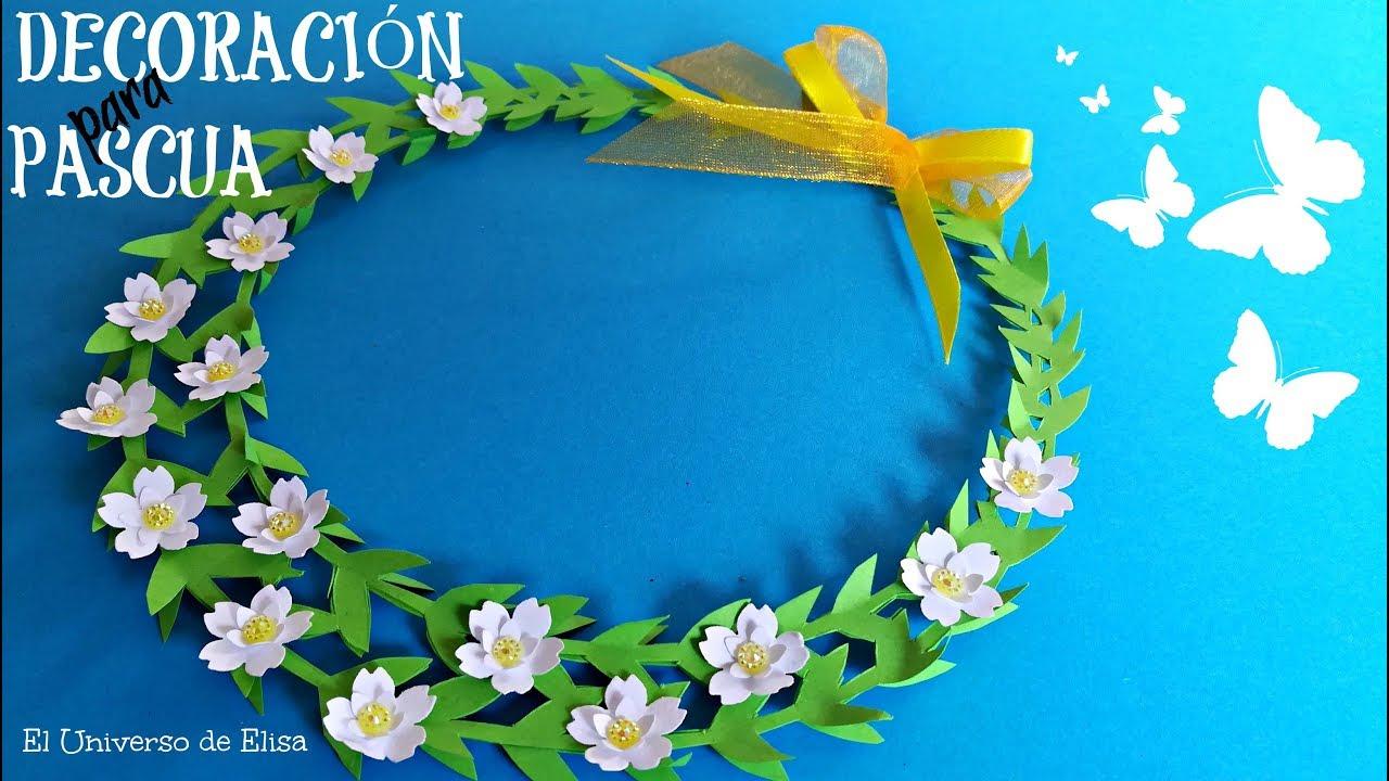 Decoración para  Pascua, Decoración Primera Comunión, Cómo Hacer Flores de Papel