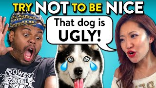Adults React To Try Not To Be Nice Challenge | Can You Be Mean To A Puppy?