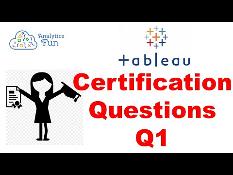 3. Tableau Desktop Specialist Exam | Question