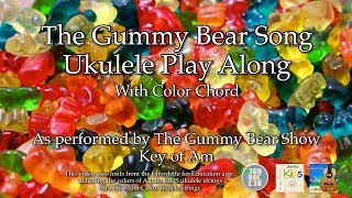 Gummy Bear Song Ukulele Play Along
