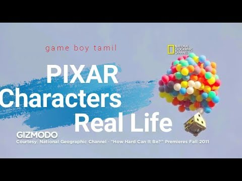 Pixar Movies Characters In Real Life 2018