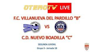 R.F.F.M. - Jornada 18 - Segunda Juvenil (Grupo 3): F.C. Villanueva del Pardillo 1-0 C.D. Nuevo Boadilla.