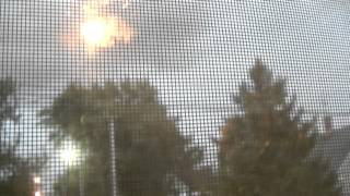 8/26/2014 - 2 close lightning strikes - recorded from window