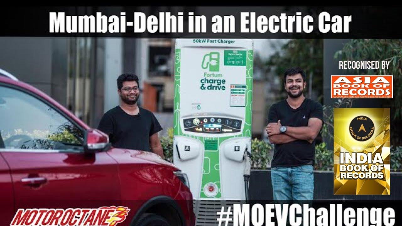 Motoroctane Youtube Video - Mumbai-Delhi in an Electric Car - MG ZS EV #MOEVChallenge