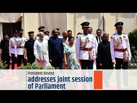 President Kovind addresses joint session of Parliament