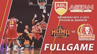 Mono Vampire v Singapore Slingers | FULL GAME | 2018-2019 ASEAN Basketball League