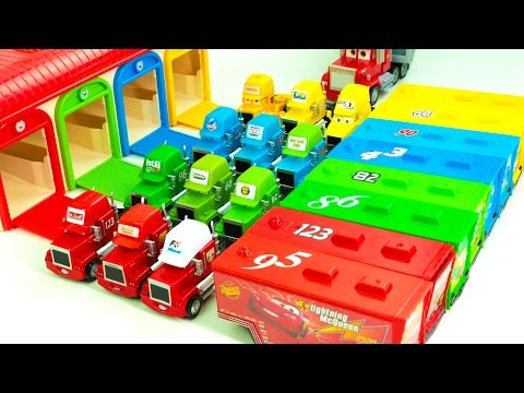 Learning Color Special Disney Pixar Cars Lightning McQueen Mack Truck for kids car toys