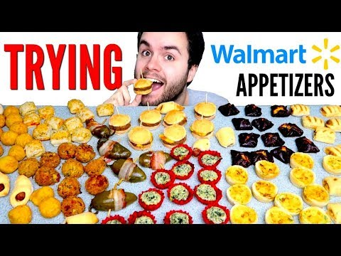 EPIC Walmart Appetizers Taste Test! – Trying Walmart Frozen Food!