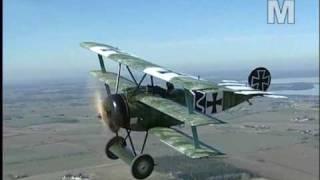 """Mikael Carlson and his Fokker Dr.1 """"Dreidecker""""  - air-to-air!"""
