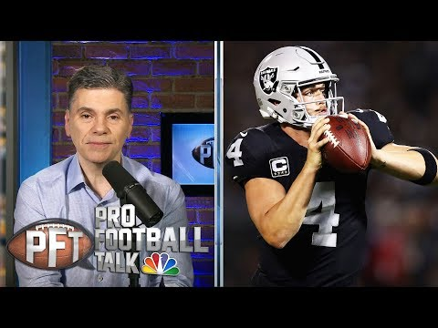 Raiders' Derek Carr could take blame if Antonio Brown struggles | Pro Football Talk | NBC Sports
