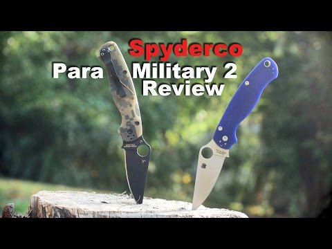 Spyderco Para Military 2 S110V Blurple Knife Review.  The Awesome Ergonomic Classic.
