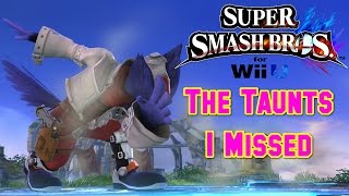 The Unofficial Taunts of Smash 4 (Part 2)