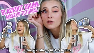 BLACKOUT DRUNK MAKEUP TUTORIAL   Katelyn Fitch