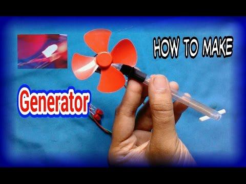 How to make a mini electric generator