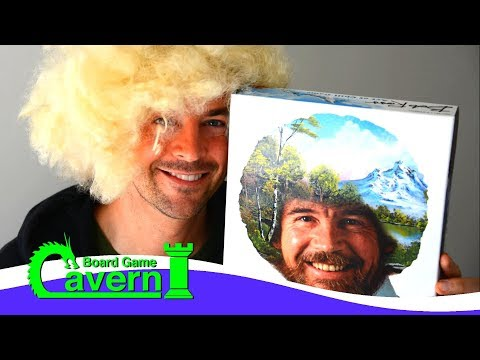 "How to play ""Bob Ross: The Art Of Chill"" - Board Game Cavern"