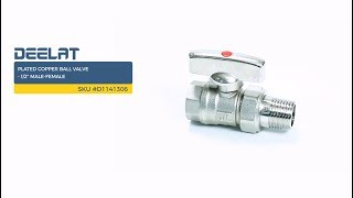 Plated Copper Ball Valve - 1/2