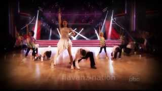 Angel and Charlize   Dancing w  stars
