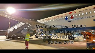 Croatia Airlines - OU664 - Zagreb to Dubrovnik - A319-100 (9A-CTL)