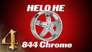 HELO HE844 Chrome Wheels w/Black Insets