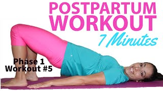 Low Impact Postpartum Workout for the first 6 weeks | Safe Postpartum Exercise (Start Now)