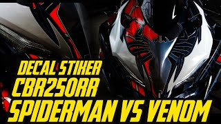 DECAL CBR250RR SPIDERMAN Vs VENOM by MOTOBLAST