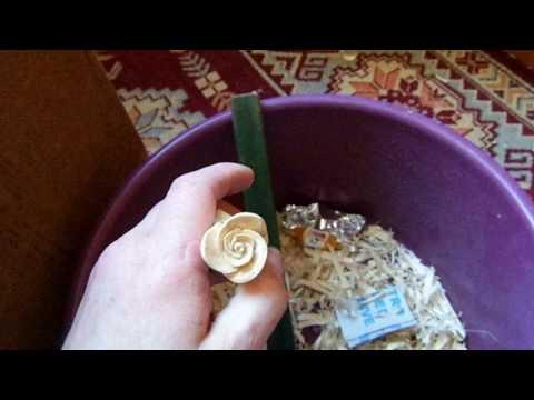 Как вырезать розу, резьба по дереву. Урок начинающим.carved rose with one's hands