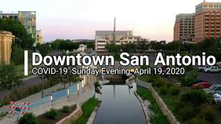 2020 Flying a Drone in Downtown San Antonio at Sunset
