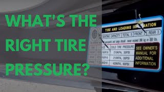 How to Know the Correct Tire Pressure for Your Car