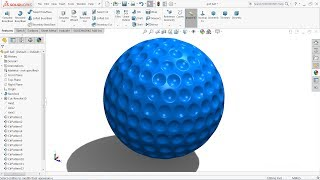 Solidworks tutorial | Golf Ball in Solidworks