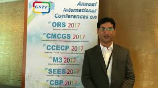 Mr. Nayyar Hussain at SEES Conference 2017 by GSTF Singapore