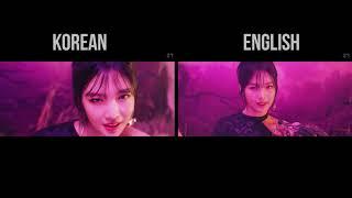 RBB   Red Velvet COMPARISON English & Korean (Really Bad Boy)