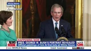 """W Cries & Laura Bush Adds """"This House Belongs To Those Who Will Never Have A Portrait Here"""""""