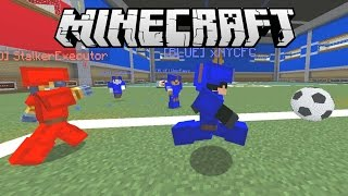 NEW FOOTBALL IN MINECRAFT MINIGAME - RED Vs BLUE Soccer