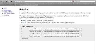 Web Action Toolbelt Selection Demo