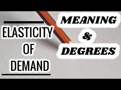 Price Elasticity of Demand-MEANING & DEGREES OF ELASTICITY