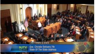 NJTV Reverend Joe Carter faint State of State Christie New Jersery