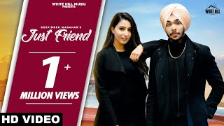 Just Friend (Full Song) | Deepinder Madahar | New Song 2020 | White Hill Music