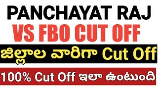 panchayati raj expected cut off score 2018 | panchayati raj district wise cast wise cut off marks
