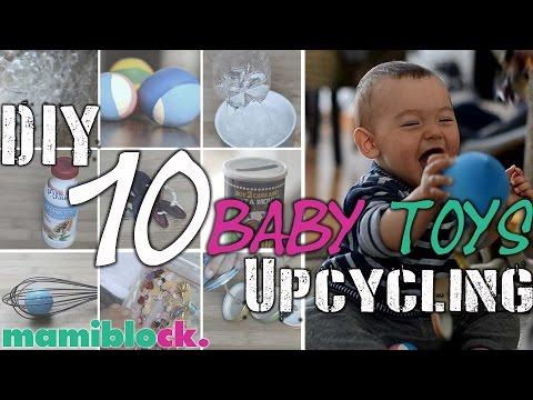 10 Babyspielzeuge kostenlos und schnell selbst gemacht | DIY und Upcycling baby toys | mamiblock