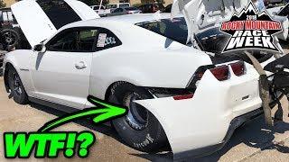 The Tires SHOOK His Bumper OFF!