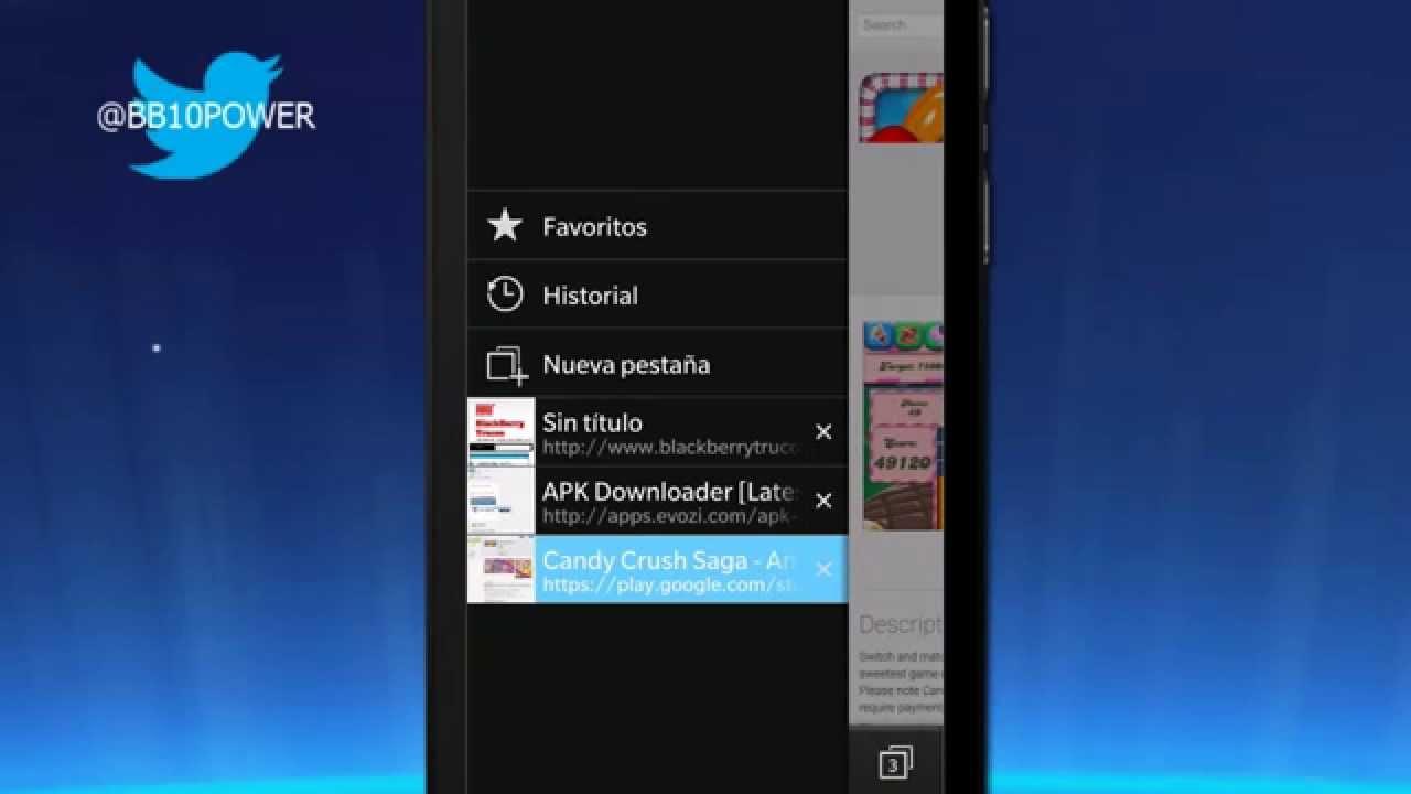 Descargar Cómo Copiar APK de Google Play e Instalarlas en BlackBerry Q5, Q10, Z10, Z30, Passport para celular #Android