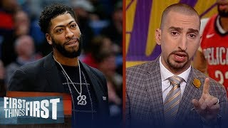 Nick Wright analyzes the Lakers reported trade offer to Pelicans for AD | NBA | FIRST THINGS FIRST