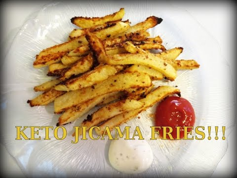 "Video KETO ""FRENCH FRIES"" - JICAMA FRIES LOW CARB RECIPE - DELICIOUS!"