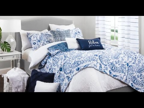 Aster Quilt Navy 3 Piece Set